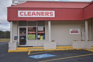 •cleaners outside